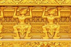 Golden Thai pattern Royalty Free Stock Photography