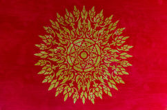 Golden thai pattern Royalty Free Stock Photos