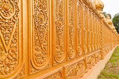 Golden Thai pattern tilted out Stock Photography