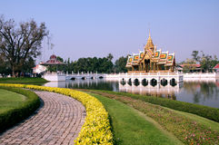 Golden Thai Pavilion at Bang Pa-in, Ayuthaya Royalty Free Stock Photo