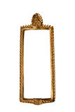 Golden Thai square style frame isolated Stock Image
