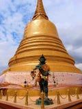 Golden Thai stupa stock image