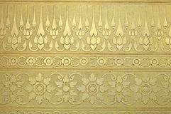 Golden Thai style pattern Royalty Free Stock Images