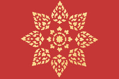 Golden thai style pattern Stock Images