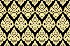 Golden thai style pattern Stock Photography