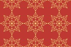 Golden thai style pattern Stock Image
