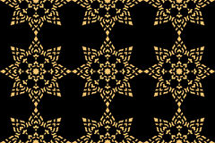 Golden thai style pattern Royalty Free Stock Image
