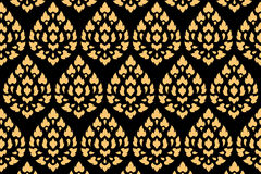 Golden thai style pattern Stock Photos