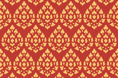 Golden thai style pattern Royalty Free Stock Photos