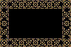 Golden thai style pattern traditional art Stock Photo