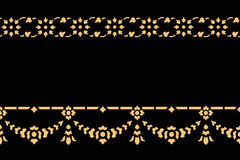 Golden thai style pattern traditional art Stock Photos