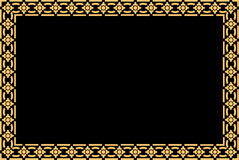 Golden thai style pattern traditional art Royalty Free Stock Image