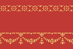 Golden thai style pattern traditional art Stock Images