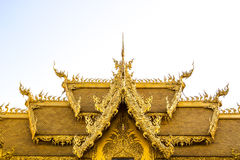 Golden Thai Style Roof at Wat Rong Khun Royalty Free Stock Image
