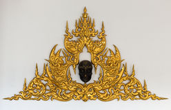 Golden Thai style stucco Stock Photography