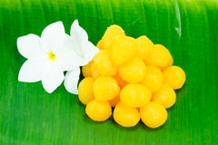 Golden Thai Sweet dessert Royalty Free Stock Photo
