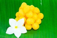 Golden Thai Sweet dessert Stock Images