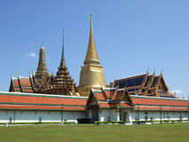Golden Thai Temple. Golden Thai Buddhist Temple, Namely The Grand Palace in Bangkok Royalty Free Stock Photo