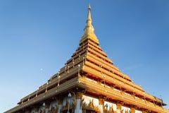 Golden thai temple Royalty Free Stock Photo
