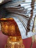 Golden Thai urn Stock Images