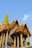 Golden Thailand Temple. And Blue Sky Royalty Free Stock Photography