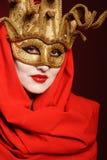 Golden theater mask Stock Photos