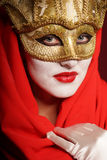 Golden theater mask Royalty Free Stock Image