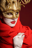 Golden theater mask Stock Images