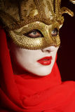 Golden theater mask Stock Photo