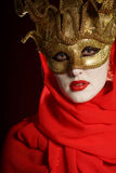 Golden theater mask Royalty Free Stock Photos