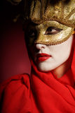 Golden theater mask Stock Photos