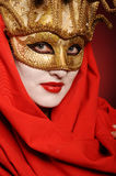 Golden theater mask Stock Photography