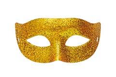Golden theater maskGolden theater mask on white background Stock Image