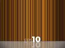 Golden theatrical curtain. 3d image. Golden theatrical curtain vector background for your design. 3d image Royalty Free Stock Photo