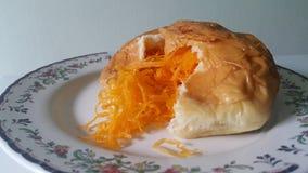 Golden threads bun. Golden tread bun , It combines thai dessert and bread Stock Images