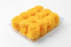 Golden threads, Thai dessert Royalty Free Stock Photography