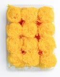 Golden threads, Thai dessert Royalty Free Stock Image