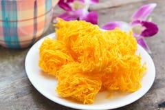 Golden threads, Thai dessert. Stock Photography