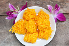 Golden threads, Thai dessert. Stock Photography