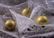 Golden three some christmas Stock Images