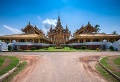 Golden Throne in Bago, Myanmar royalty free stock photography