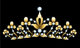 Golden tiara Stock Image