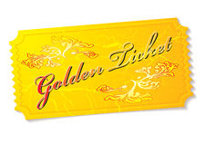 Golden ticket Stock Photography