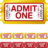 Golden ticket Royalty Free Stock Photos