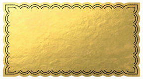 Golden Ticket. Blank Golden Ticket white background Stock Image