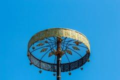 Golden tiered umbrella in Thai temple Stock Images