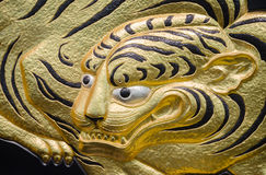 Golden tiger. In Osaka Castle stock images