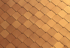 Golden Tile Background. Golden building tile background as siding or decoration Stock Images