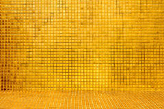 Golden tile background Royalty Free Stock Image