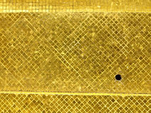 Golden tile surface Stock Photo